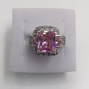4 CARAT AAA PINK SAPPHIRE Stamped 925 SILVER Size5